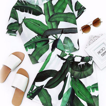 Two Pieces Tropical Set