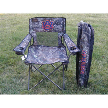 Auburn Tigers NCAA Ultimate Real Tree Camo Adult Tailgate Chair