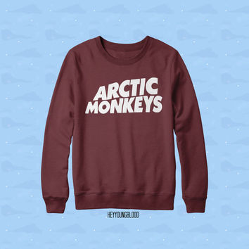 Arctic Monkeys Raglan Sweater Burgundy/Truffle