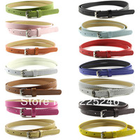 Aliexpress.com : Buy Multi Color Thin Skinny Faux Leather Waistband Womens Ladies Casual Belt Strap For Free Shipping from Reliable strap suppliers on Zehui Company