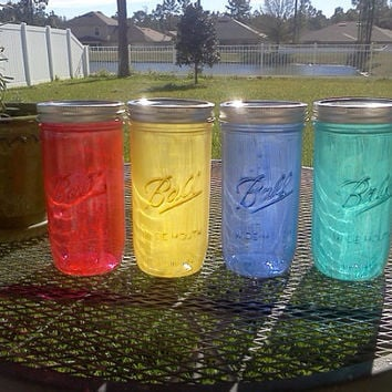 Ball Mason Jar Sippy Tumbler - - CHOOSE YOUR COLOR  - 24 oz Tumbler - Milk Wash - Weddings - Baby Showers - Bachelorette Party
