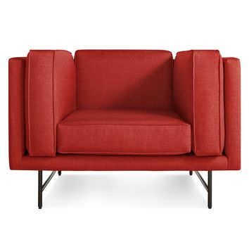 Blu Dot Red Bank Modern Upholstered Club Chair