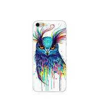 Cute Cartoon Owl Hard Plastic Phone Case Shell Cover for Apple iPhone 4 4s 5 5s SE 5c 6 6s 6 Plus 6s Plus