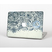 The Vintage Tan & Black Top Swirled Design Skin Set for the Apple MacBook Air 11""