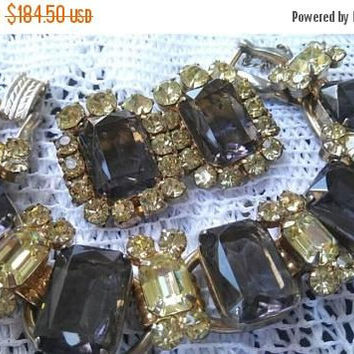 ON SALE Juliana Vintage Rhinestone Jewelry Set, Bracelet Earrings Demi Parure 1960's D & E Collectible Designer Jewelry