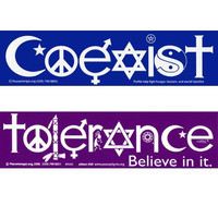 Coexist and Tolerance Magnetic Bumper Stickers