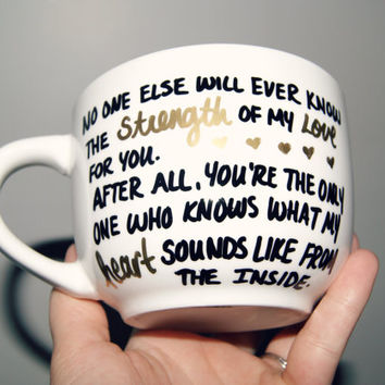 What My Heart Sounds Like From The Inside MUG/ New Mom /Mothers Day/ Love