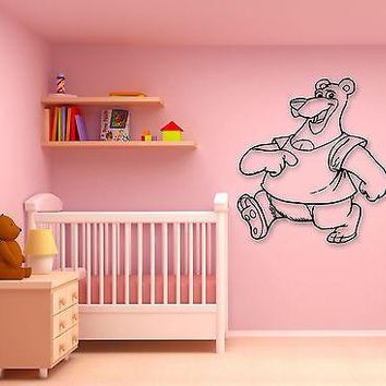 Wall Stickers Vinyl Decal Cheerful Cartoon Bear Children's Room Unique Gift (ig746)