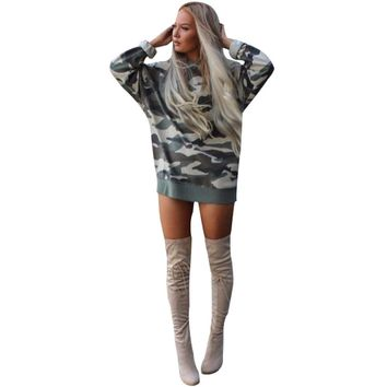 Camo Oversized Casual Dress