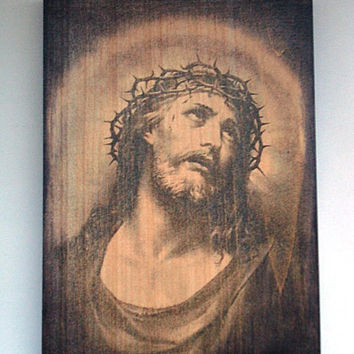 Jesus christ thorn, Spiritual plaque, Jesus thorn wreath, Crown of Thorns, Wall Jesus Christ, Christian Wall Art, Christian gift