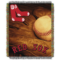 Boston Red Sox MLB Woven Tapestry Throw (Vintage Series) (48x60)