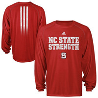 NC State Wolfpack Power ClimaLITE Long Sleeve Performance Tee - Red