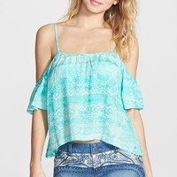 Junior Women's Rip Curl 'Sand Dunes' Off the Shoulder Top,