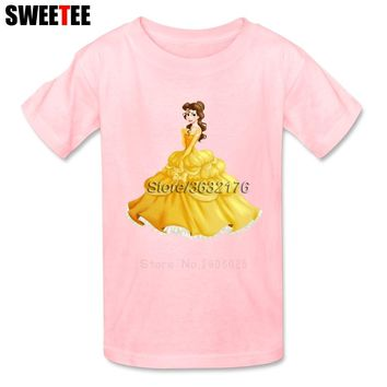 Belle Beauty And The Beast Children Toddler Clothing T Shirt Infant Cotton Boy Girl 2018 T-shirt O Neck Kid Tshirt