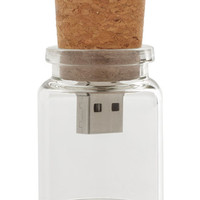 ModCloth Rustic Instant Message in a Bottle USB Flash Drive - 4GB