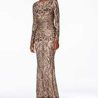 Betsy & Adam Petite Sequined Gown - Dresses - Women - Macy's