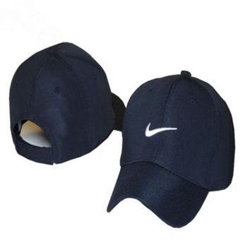 Nike Embroidered Unisex Adjustable Cotton Sports Cap Hat