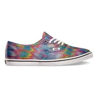 Vans Unisex Authentic Lo Pro Rainbow Sneakers Truewhite M4 W5.5