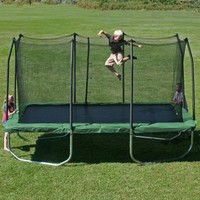 Skywalker 14' x 8' Rectangle Trampoline with Enclosure, Green (Was $630) - Walmart.com