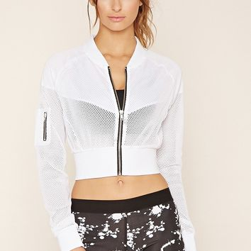Active Mesh Cropped Jacket