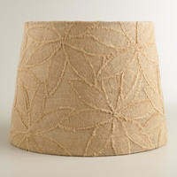 Petal Applique Burlap Table Lamp Shade - World Market