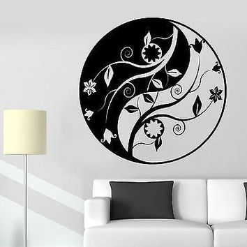 Wall Sticker Buddha Yin Yang Mandala Om Chakra Zen Lotus Vinyl Decal Unique Gift (z2919)