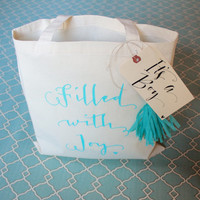 It's A Boy - Baby Shower Favor Gift Bag or Gender Announcement Tote Bag