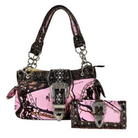 Mossy Oak Bling Bag Satchel & Wallet Set
