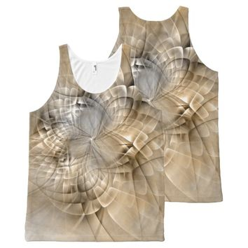 Earth Tones Abstract Modern Fractal Art Texture All-Over-Print Tank Top