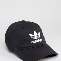 adidas Originals Logo Cap In Black at asos.com
