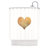 "Suzanne Carter ""Gold Heart"" Glam Shower Curtain"