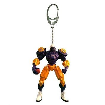 Los Angeles Chargers Keychain Fox Robot 3 Inch Mini Cleats