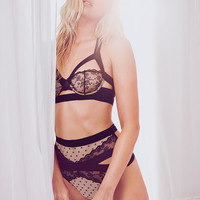 Dot & Lace Long Line Balconet Bra - The Victoria's Secret Designer Collection - Victoria's Secret