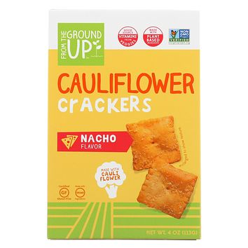 From The Ground Up - Cauliflower Crackers - Nacho - Case Of 6 - 4 Oz.