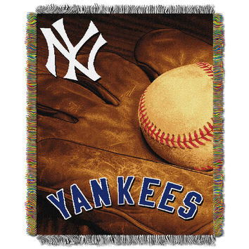 New York Yankees MLB Woven Tapestry Throw (Vintage Series) (48x60)