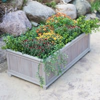 Outdoor Garden 41-inch Raised Patio Planter Box in Driftwood Finish
