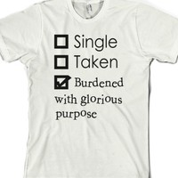 Burdened With Glorious Purpose-Unisex White T-Shirt
