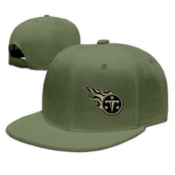 Tennessee Titans Salute To Service Logo Breathable Unisex Adult Womens Fitted Hats Mens Flat Brim Hats