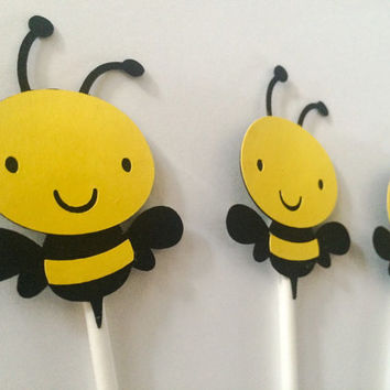 Bee Cupcake Toppers | Mommy To Bee | 1st Bee Day | Cupcake Toppers | Baby Shower