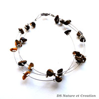 Silver wire jewelry, tiger eye bracelet, handmade jewelry, fashion silver bracelet, natural gemstone jewelry, modern fashion jewelry, trysna
