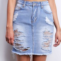 Slashed+Denim+Skirt