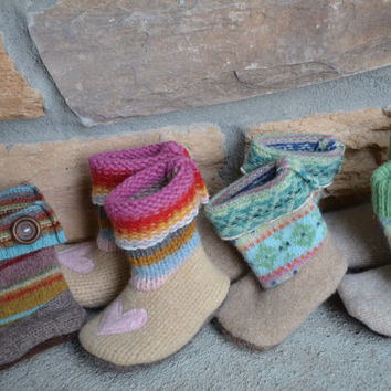 Baby Boots, Booties, Shoes, Wool, unisex