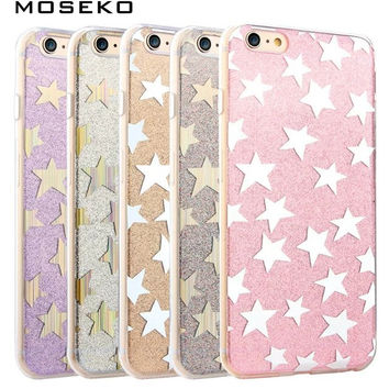 MOSEKO For iPhone 6 6s Plus 7 7Plus Case Fashion Flash Glitter Cases Sparkling Luxury Silicone Cover Case For iPhone 6 6s 7 Plus