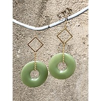 Mint Resin Earrings