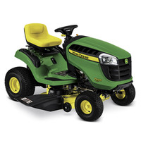 Shop John Deere D105 17.5-HP Automatic 42-in Riding Lawn Mower at Lowes.com