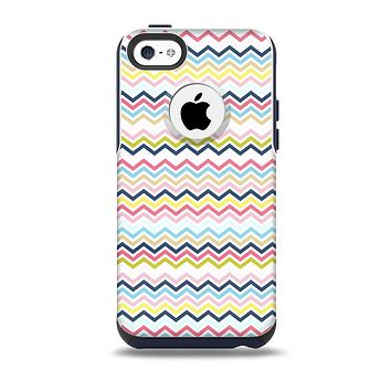 The Multi-Lined Chevron Color Pattern Skin for the iPhone 5c OtterBox Commuter Case