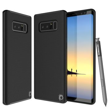 Galaxy Note 8 Case, PunkCase Stealth Black Series Hybrid 3-Piece Shockproof Dual Layer Cover