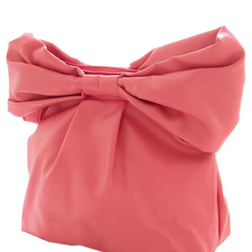 Bow Clutch - Pink