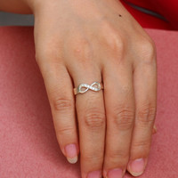 Infinity Symbol Ring -  Infinity Ring - Diamond Ring - Silver Infinity Ring - Gift For GirlFriend