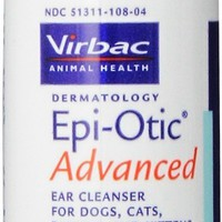 Virbac Epi-Otic Advanced Ear Cleaner for Dogs & Cats, 4-oz bottle